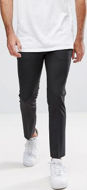 super skinny cropped smart trousers  charcoal