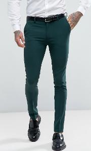 super skinny fit suit trousers  green