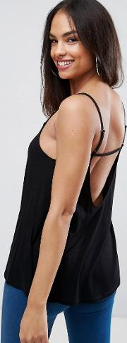 swing cami with back strap