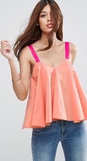 swing cami with contrast straps