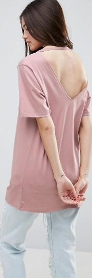 t shirt with cutout back