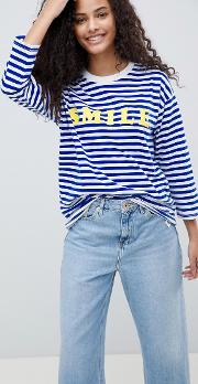 t shirt with smile in stripe