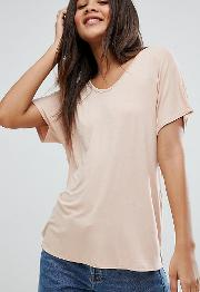 asos design tall  shirt with drapey batwing sleeve  pink