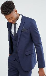 tall skinny suit jacket  navy