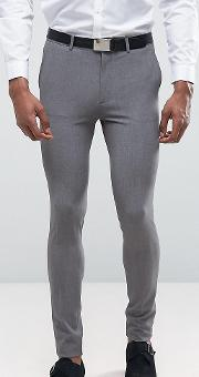 Tall Super Skinny Suit Trousers  Grey