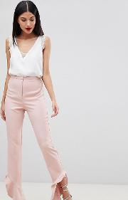 tailored soft fluted slim trouser