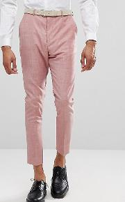 tall wedding tapered smart trousers  pink 100 wool