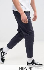 tapered cropped chinos  navy