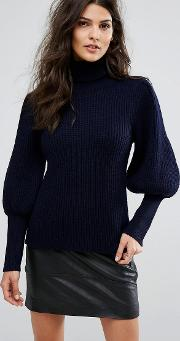 Balloon Sleeve Knit Jumper