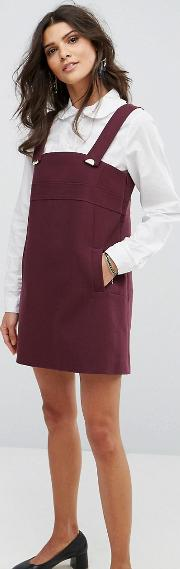 pini detail mini dress