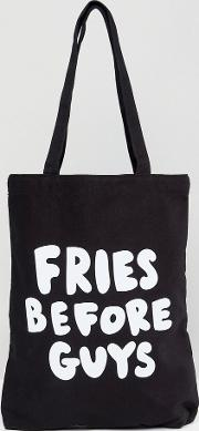 ban.do fries before guys canvas tote bag
