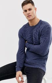 Galley Recycled Cotton Crew Neck Knitted Jumper