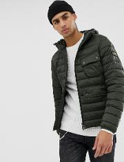 Ousten Hooded Quilted Jacket