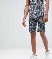 Chino Short With Wave Print