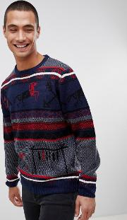Christmas Jumper Aztec Fairisle