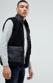 gilet in teddy fleece