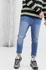 Join Life Carrot Fit Jeans With Rip And Abrasions Mid