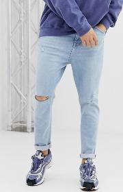 Join Life Carrot Fit Jeans With Rips And Abrasion Light