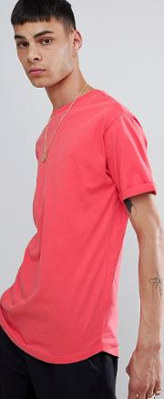 join life longline t shirt  red