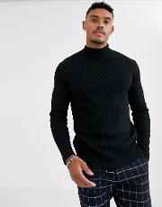 Join Life Organic Cotton Fine Knit With Turtle Neck