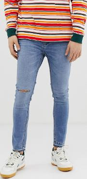 Join Life Super Skinny Jeans Light With Knee Rip