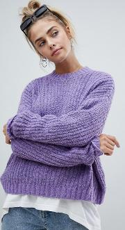 loose fit jersey knitted jumper