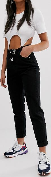 Mom Fit Trouser With Belt