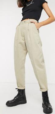 Pleat Top Slouchy Trousers