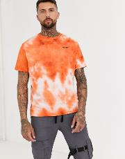 T Shirt With Chest Print Tie Dye