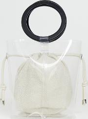 Top Handle Bag With Inner Pouch Clear