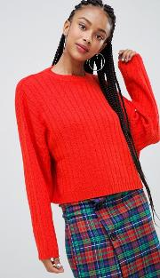 Wide Jumper Knitted