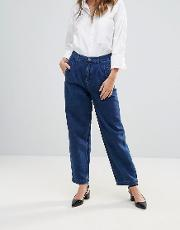 aidan pleat front mom jeans