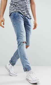 cirrus distressed ripped skinny jeans