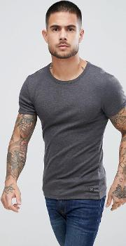 muscle fit  shirt in charcoal