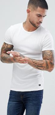 muscle fit  shirt in white