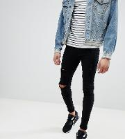 Tall Flurry Knee Rip Extreme Skinny Jeans