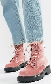 Chunky Hiker Ankle Boots