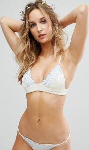 Bridal Embroidered Eclipse Bikini Top