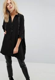 Oversized Shirt With Chain Detail
