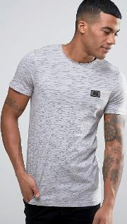 raw rolled edge t shirt