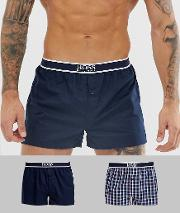 2 Pack Check Woven Boxers