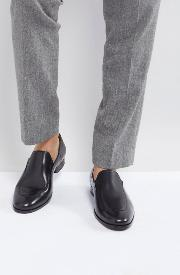 hanover leather loafers in black