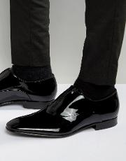 hugo by  black evening patent slip on loafers