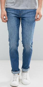 by hugo 63 slim fit light wash jeans blue