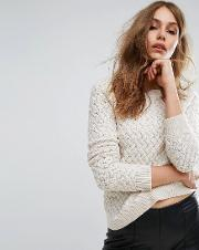 by hugo boss icelynne cable knit jumper