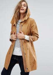 soft drape trench coat