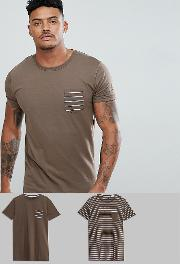 2 pack stripe and plain  shirt