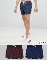 2 pack swim short