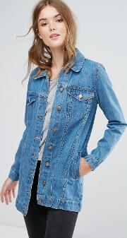 acer longline denim jacket