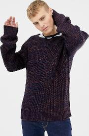 Cable Twist Contrast Jumper